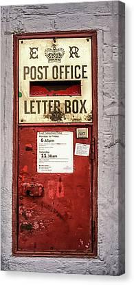 Red Mailbox Canvas Print by Georgia Fowler