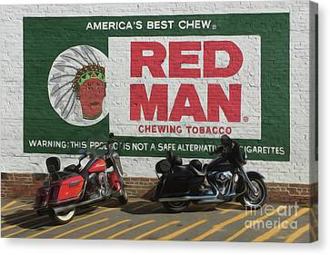 Red Man Chewing Tobacco Canvas Print