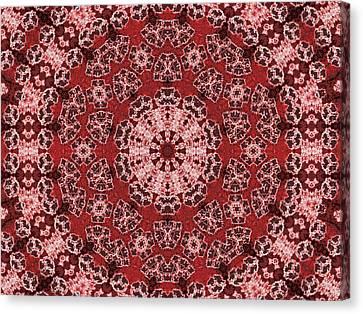 Red Mandala Canvas Print by Jodi DiLiberto