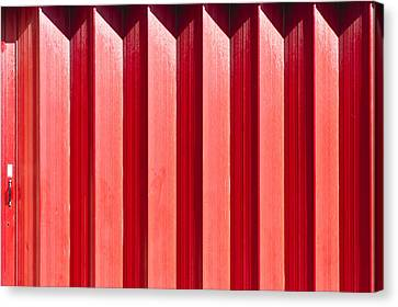 Red Metal Door Canvas Print