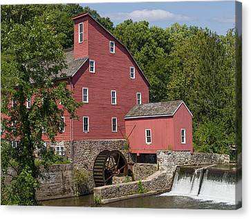Red Mill At Clinton Canvas Print
