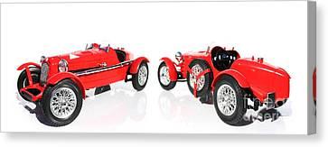 Red Model Car Canvas Print