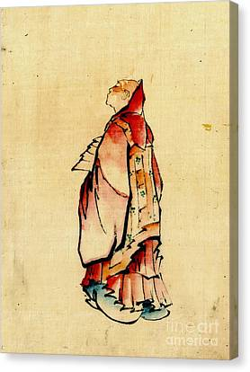 Red Monk 1840 Canvas Print by Padre Art