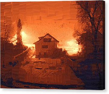 Red Morn Canvas Print by Chuck Shafer