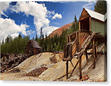 Old Mine Canvas Print - Red Mountain Mining - The Loader by Lana Trussell