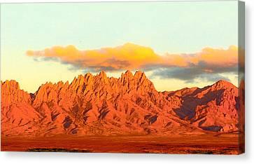 Red Mountain Sunset Organs Canvas Print by Jack Pumphrey