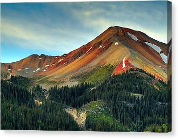 Red Mountain Canvas Print by Tim Reaves