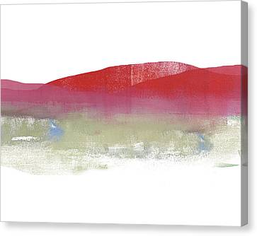 Red Mountains Canvas Print by Jacquie Gouveia