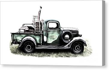 Red Neck Moving Day Canvas Print by Edward Fielding