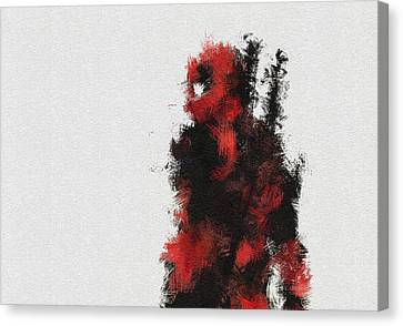 Red Ninja Canvas Print by Miranda Sether