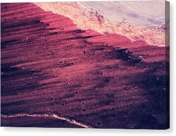 Red Ocean Canvas Print by Ryan Kelly