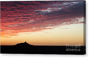 Red-orange Sunset Over The Atlantic Canvas Print by Ning Mosberger-Tang