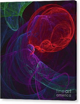 Colorful Abstract Canvas Print - Red Orb by Raphael Terra