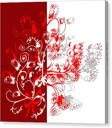 Red Ornament Canvas Print by Svetlana Sewell