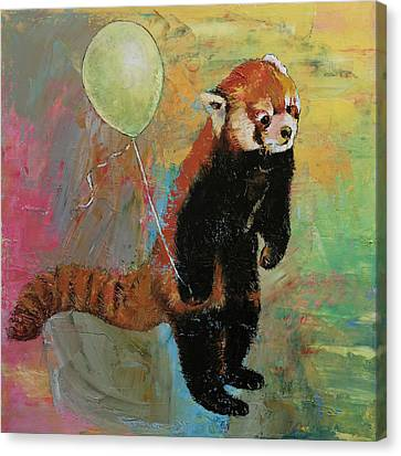 Red Panda Balloon Canvas Print by Michael Creese