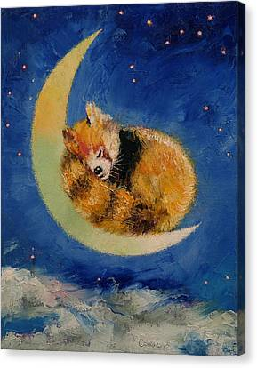 Starlight Canvas Print - Red Panda Dreams by Michael Creese
