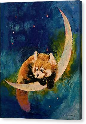 Starlight Canvas Print - Red Panda Moon by Michael Creese