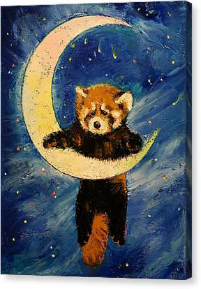 Starlight Canvas Print - Red Panda Stars by Michael Creese