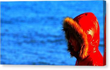 Red Parka Canvas Print