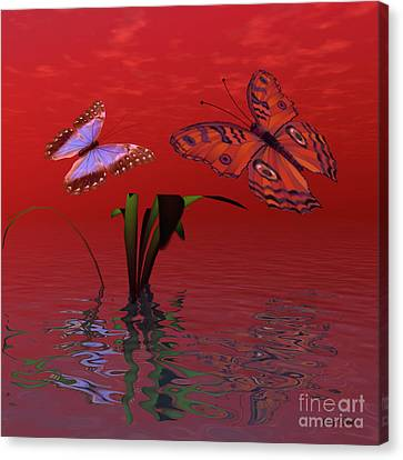 Figment Canvas Print - Red Passion by Corey Ford