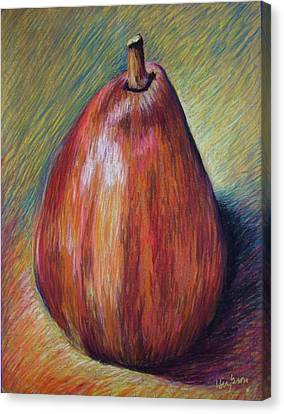 Red Pear Canvas Print by Hillary Gross