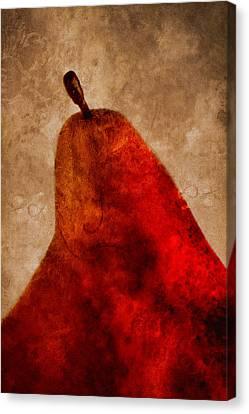 Red Pear II Canvas Print by Carol Leigh