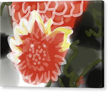 Indian Ink Canvas Print - Red Penes by Carl Griffasi