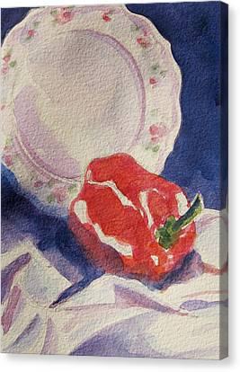 Red Pepper Canvas Print by Marsha Elliott