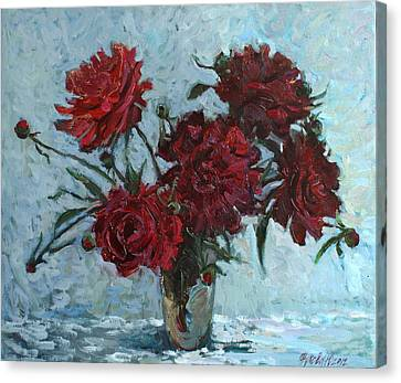 Red Piones Canvas Print