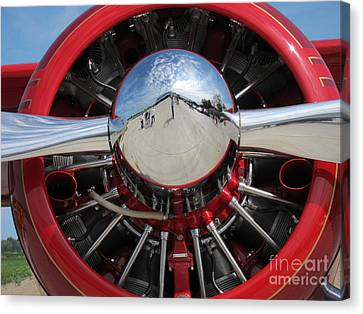 Red Plane 2 Canvas Print