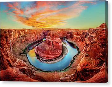 Red Planet Canvas Print by Az Jackson