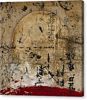 Red Planet Full Moon Canvas Print by Carol Leigh