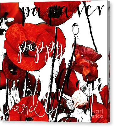 Red Poppies Canvas Print by Mindy Sommers