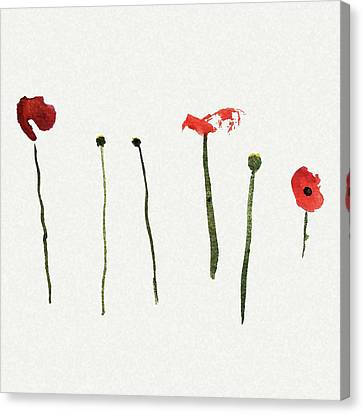 Red Poppies Canvas Print by Stephanie Peters