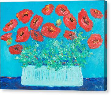 Red Poppies Still Life Canvas Print