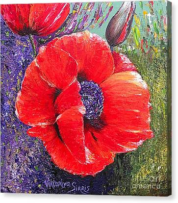 Red Poppies Canvas Print by Viktoriya Sirris