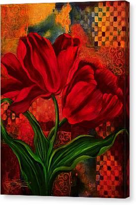Red Poppy Canvas Print by Lynn Lawson Pajunen
