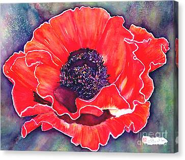 Red Poppy Canvas Print by Norma Boeckler