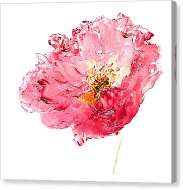 Red Poppy Painting Canvas Print by Jan Matson