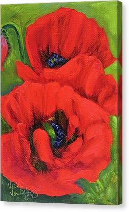Red Poppy Seed Packet Canvas Print