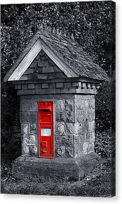 Red Post Box Canvas Print by Simon Kayne
