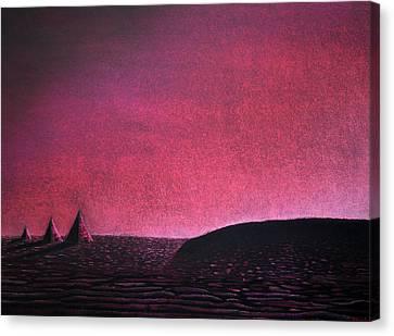Red Pyramid B Canvas Print
