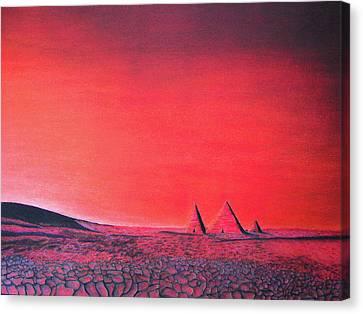 Red Pyramid W Canvas Print