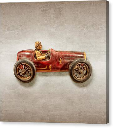 Toy Car Canvas Print - Red Racer Right by YoPedro