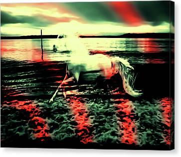 Red Rainbow Canvas Print