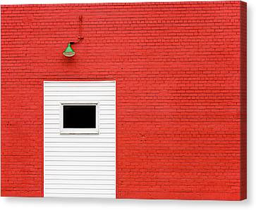 Industrial Background Canvas Print - Red, Red Wall by Todd Klassy
