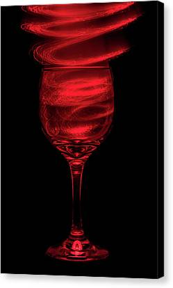 Long Stem Wine Glass Canvas Print - Red Red Wine by Marnie Patchett