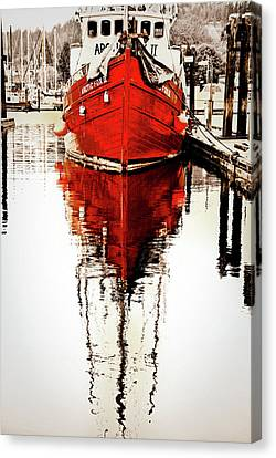 Red Reflection Canvas Print by Priscilla Huber