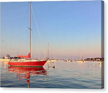 Red, Right, Return. Canvas Print