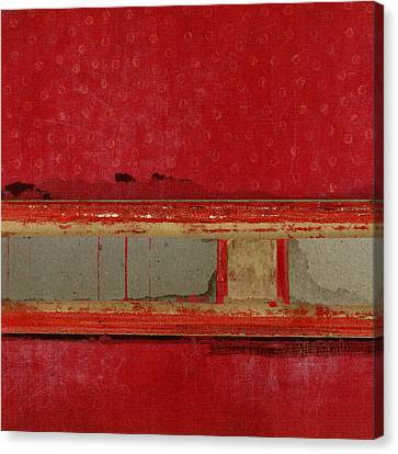 Red Riley Collage Square 1 Canvas Print by Carol Leigh